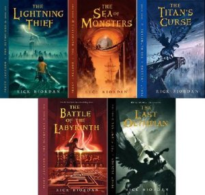 Percy Jackson series by Rick Riordan