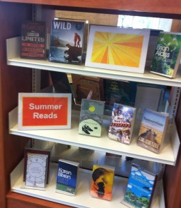 Summer Reads on display
