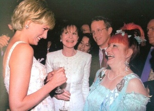 Princess Diana and Zandra Rhodes (taken from 'Dressing Diana by Tim Graham and Tamsin Blanchard)