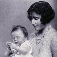 Princess Elizabeth with the Duchess of York (The Illustrated London News, 25 December 1926)