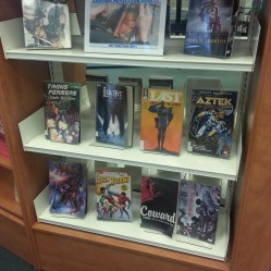 Graphic novels on display