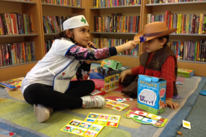 A poorly cowboy gets a check-up at Notting Hill Gate Library!