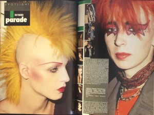 The Peacock Parade: punks, Vogue Sept 1983