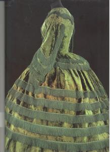 Promenade Dress made of silk plush. British 1855-57