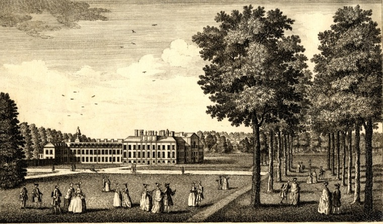 An engraving of Kensington Palace