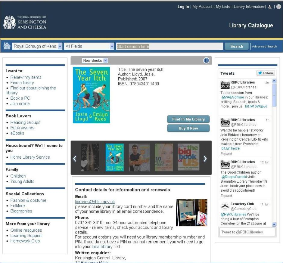RBKC library catalogue