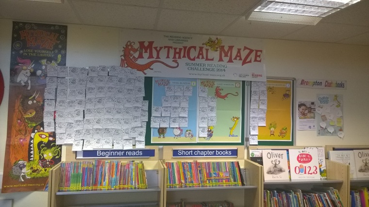 Mythical Maze activities at Brompton Library