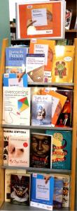 North Kensington display including Books on Prescription core and Dementia Collections, plus Mood Boosting Books