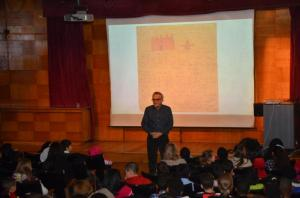 Jeremy Strong at Kensington Central Library for World Book Day, March 2015