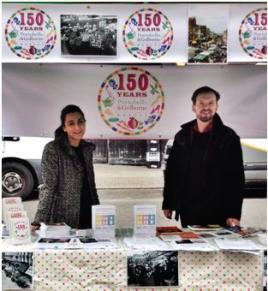 Promoting our Short Story Competition at Portobello Road Market, 2015