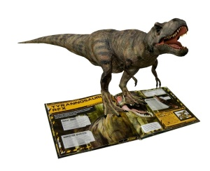 Picture of 3D dinosaur springing from idinosaur book
