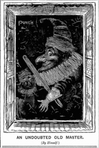 Sketch of Punch by Harry Furniss, from jan 1882 edition