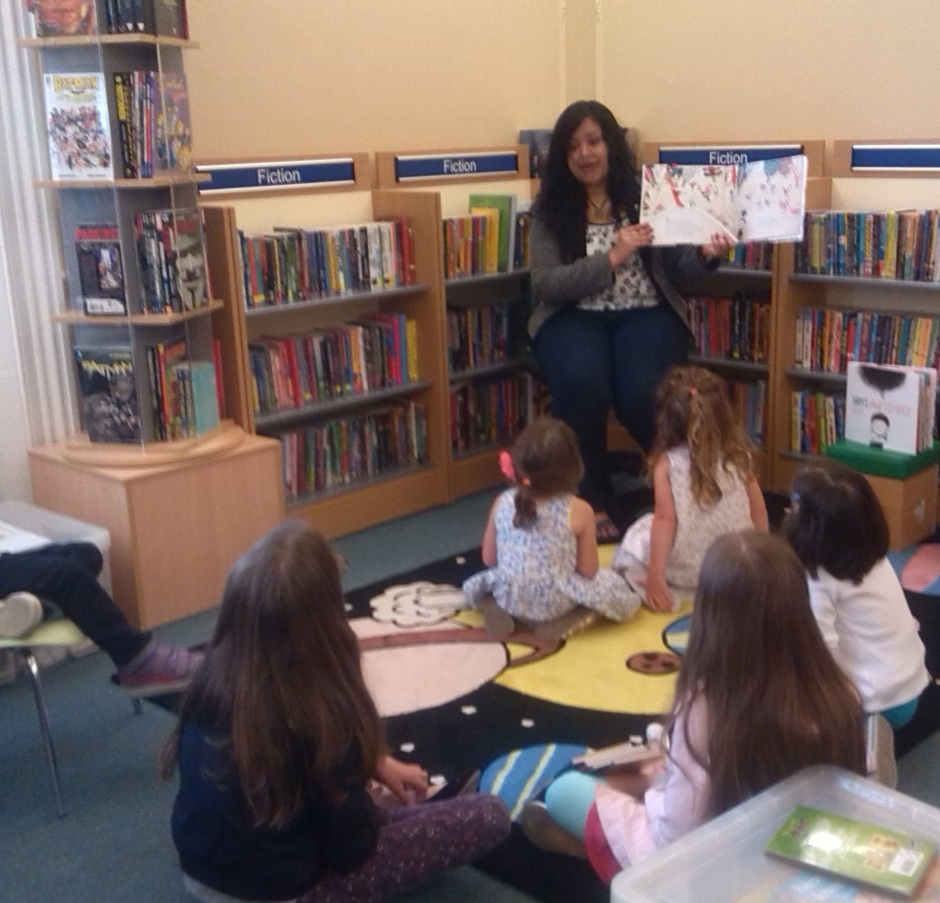 Author Sangeeta reading from her book
