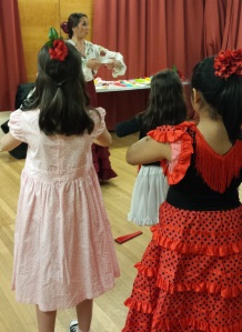 Workshop instructor maria teaching dance to young children