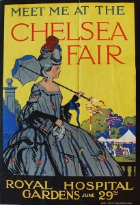 'Meet me at the Chelsea Fair' WW1 poster, RBKC Archives and Local Studies