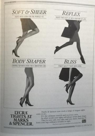 M&S hosiery advert