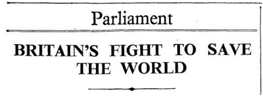 Parliament News - Britain fights to save the World