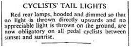 News Article - Cyclists tail lights