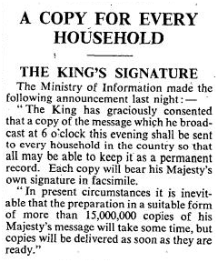 The King's Signature article