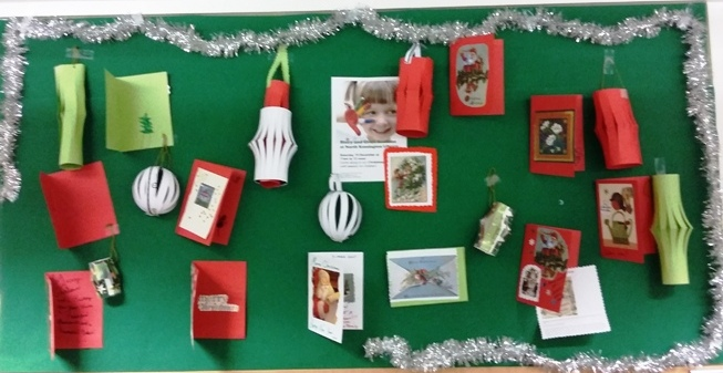 Lanterns and Christmas cards display