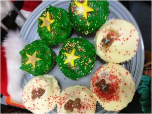 Christmas Cupcakes from the Humming Bird Bakery
