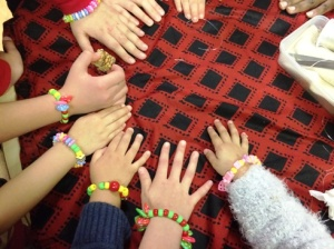 Showing off our Finished Bracelets