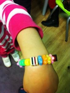 Showing off a Sweet Bracelet