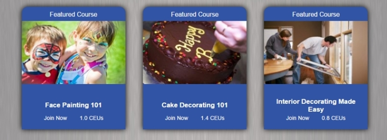 Universal Class: Face Painting, Cake Decorating, Interior Design - just three of the 500 courses you have to choose from.